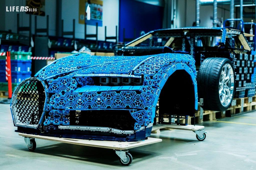 Chiron Lego scala 1:1, l'hypercar alternativa di Bugatti!