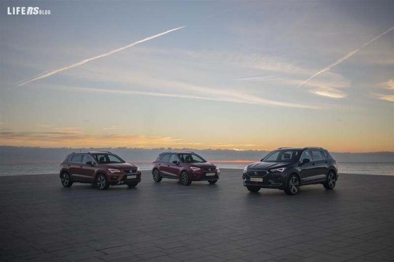 Tre SUV SEAT per la prima volta insieme su strada