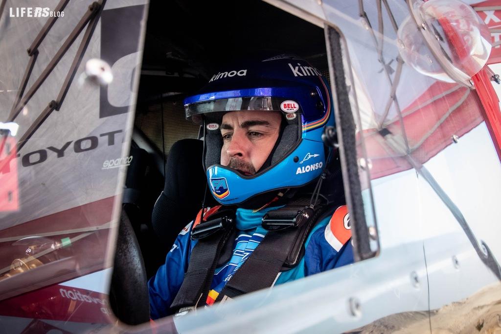 Fernando Alonso completa l'allenamento con TOYOTA GAZOO Racing