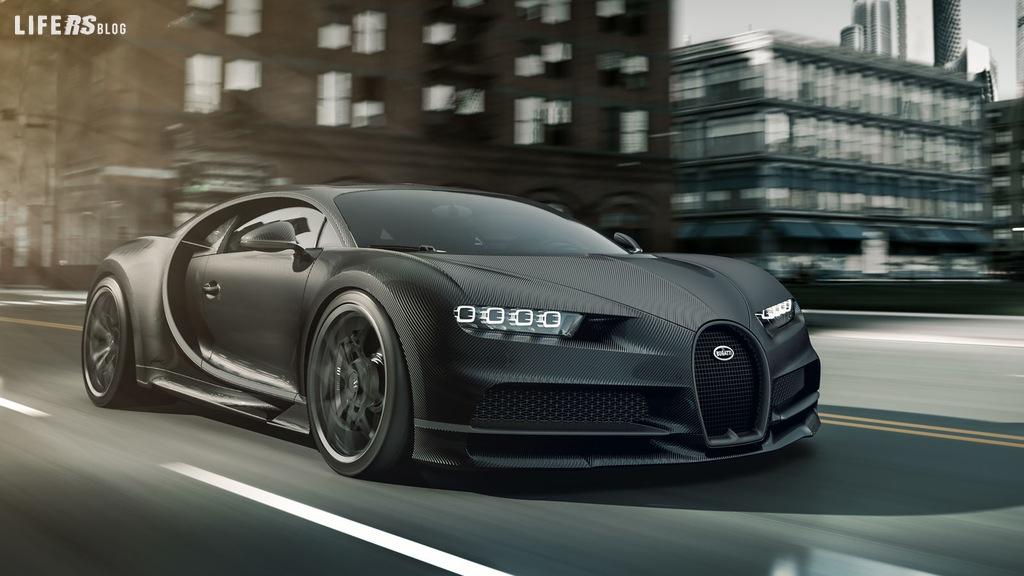 Noire, altro modello speciale ed usclusivo di Chiron Bugatti